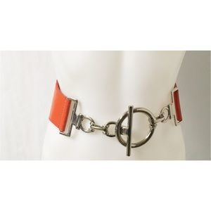 Orange /Silver Vintage Belt M/L